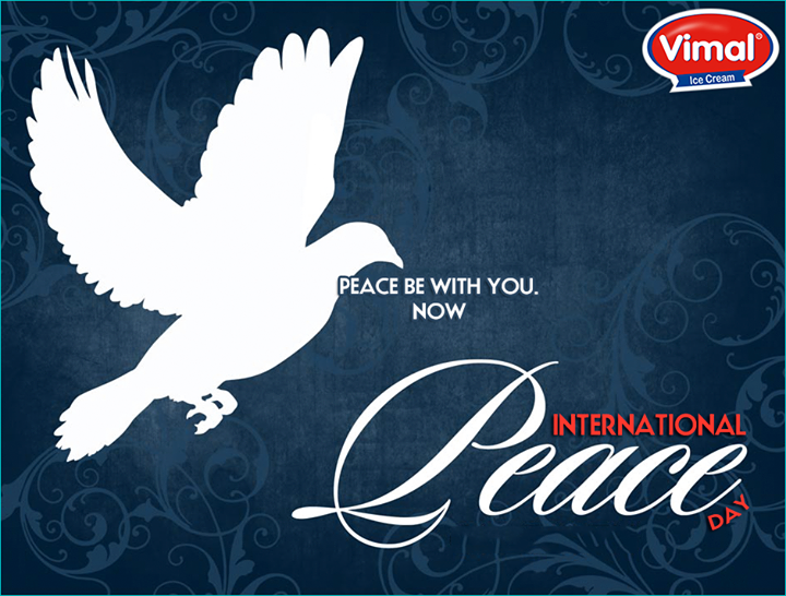 Celebrating the bond of peace, love and happiness.  #InternationalPeaceDay #InternationalDayOfPeace #Peace #VimalIcecream #Ahmedabad