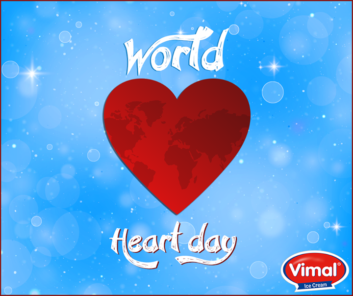 Wishing you all a very healthy and happy #WorldHeartDay from Vimal Ice Cream.  #WorldHeartDay2016 #HeartDay #VimalIcecream #Ahmedabad