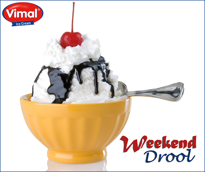 Weekend is the time to pamper yourself with the awesomeness of  Vimal Ice Cream  #IcecreamLovers #VimalIcecream #Ahmedabad