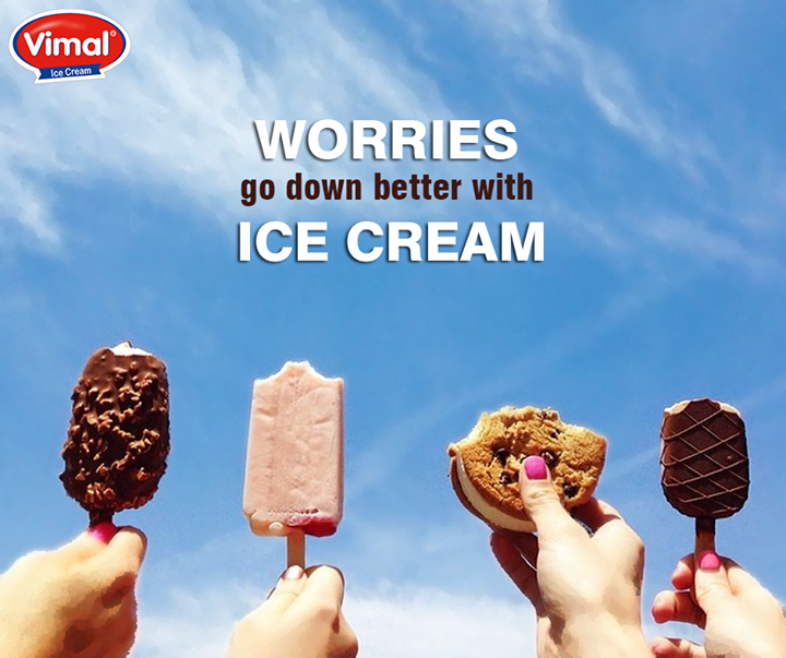 Ice cream solves everything, even #MondayBlues!  #IcecreamLovers #VimalIcecream #Ahmedabad