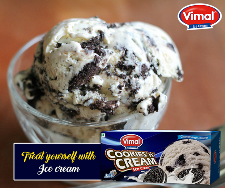 Cookies & Cream! Isn't is a perfect #Weekend treat?   #IcecreamLovers #VimalIcecream #Ahmedabad