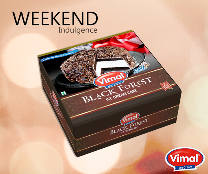 Black Forest Icecream Cake from  is surely the best choice for your  #Weekend  #IcecreamLovers #VimalIcecream #Ahmedabad