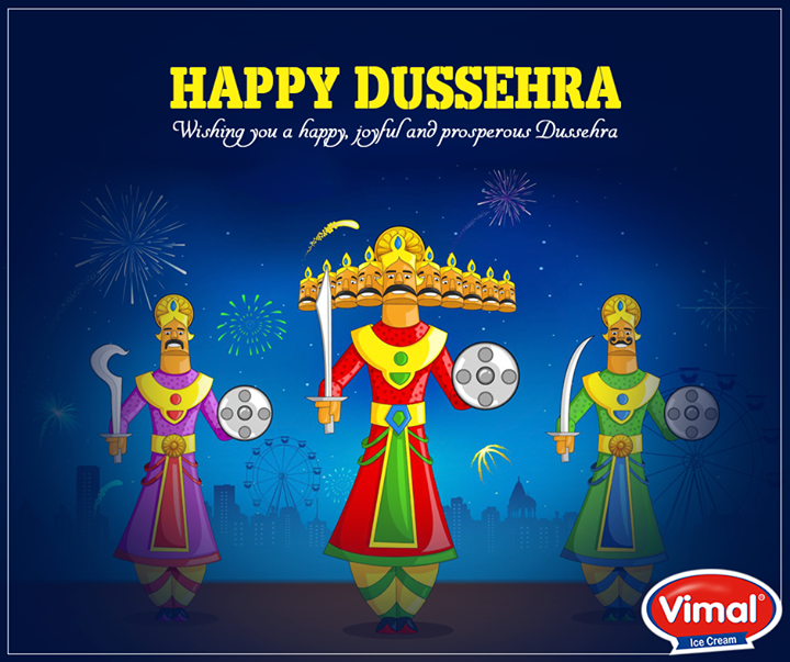 Vimal Ice Cream,  FestiveGreetings, HappyDussehra, VimalIcecream, Ahmedabad