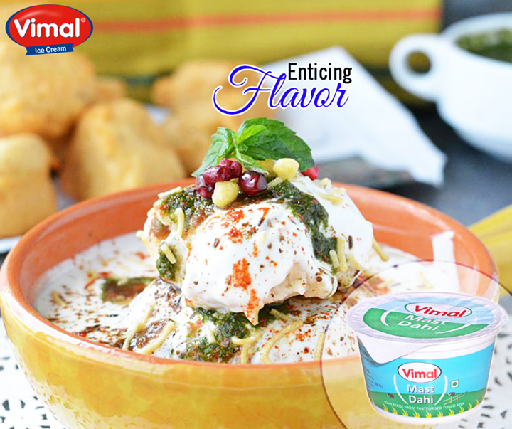 Delve into the enticing flavor of Dahi Bhalla with #Vimal #MastiDahi   #VimalIcecream #Ahmedabad