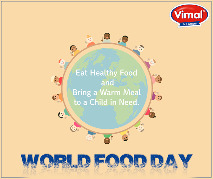 Let's eradicate #Hunger this #WorldFoodDay  #16October #VimalIcecream #Ahmedabad