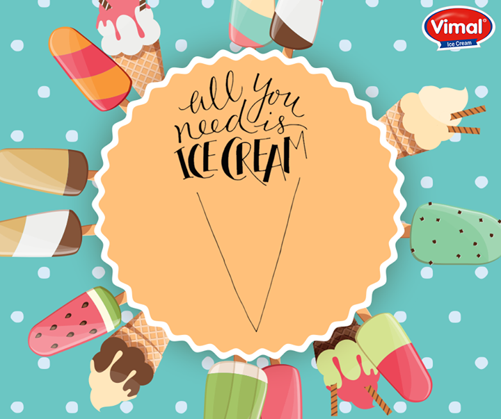 All you need is an #Icecream to kick start your week. Don't you agree?  #IcecreamLovers #VimalIcecream #Ahmedabad
