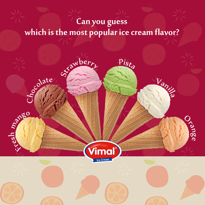 Let's see how good is your guessing game  #Icecream #Flavors #IcecreamLovers #VimalIcecream #Ahmedabad