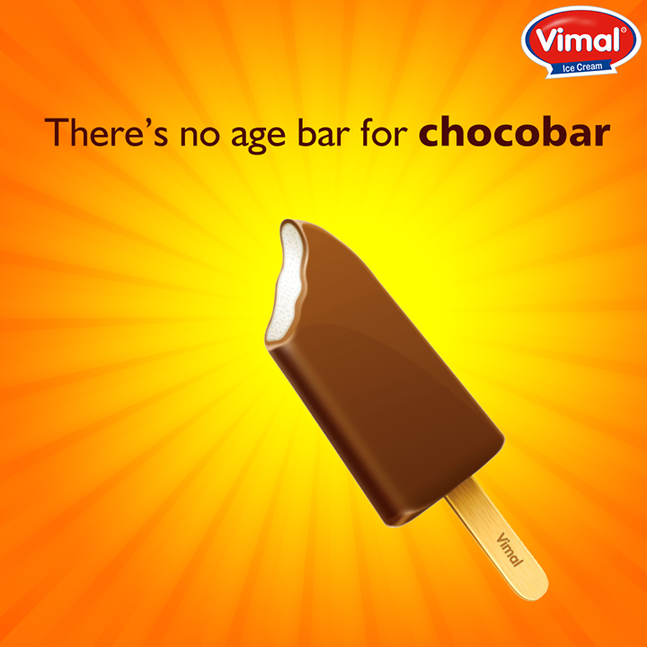 Admit it, you become a kid every time you're gorging over a #Chocobar. Don't you?  #Icecream #Flavors #IcecreamLovers #VimalIcecream #Ahmedabad