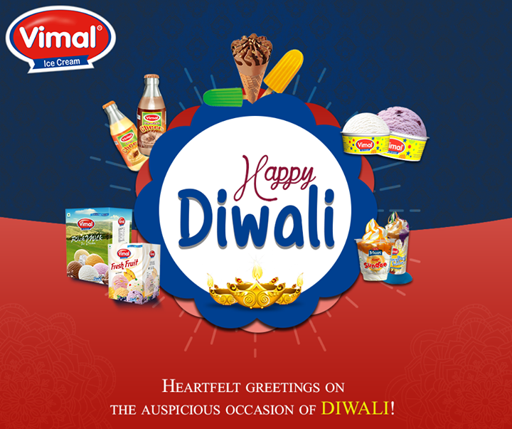 Here's wishing you all a very #HappyDiwali.   #FestiveWishes #Diwali #IndianFestivals #FestiveSeason #VimalIceCreams #Celebrations