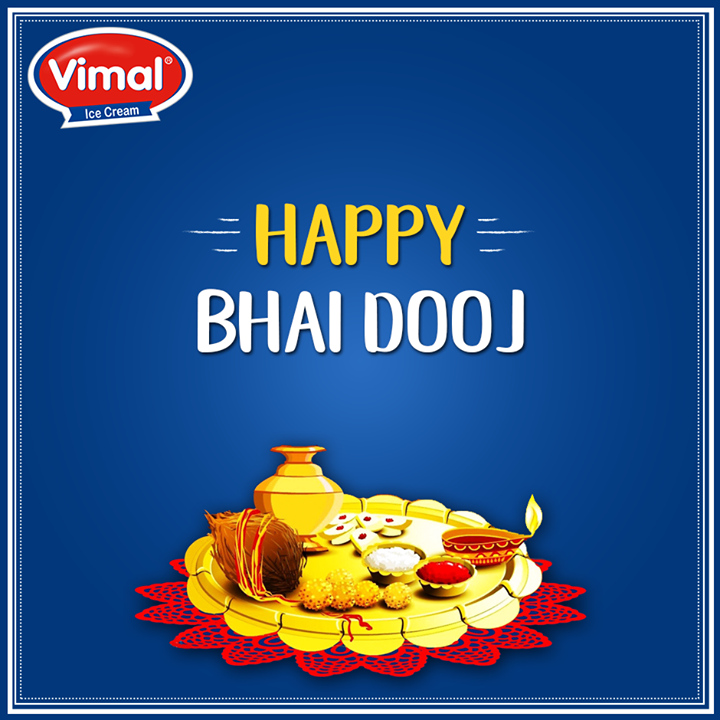 Time to celebrate Sibling hood this #BhaiDooj.  #HappyBhaiDooj #FestiveWishes #IndianFestivals #VimalIceCreams #Celebrations
