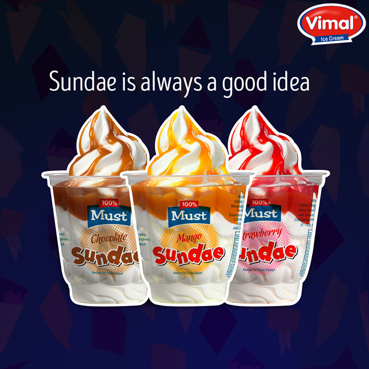Celebrate your #Weekend with exquisite #Sundaes from Vimal Ice Cream  #Flavors #IcecreamLovers #VimalIcecream #Ahmedabad