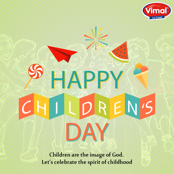 Let's celebrate the spirit of #Childhood!   #HappyChildrensDay #VimalIceCream #IceCreamLovers