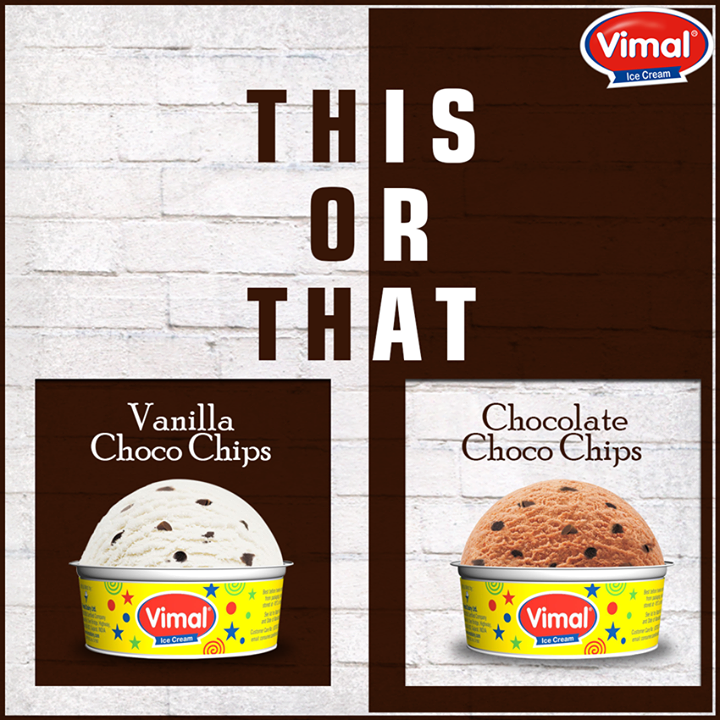 Which out of the two tempts you more? Tell us in the comments below!  #ThisorThat #Flavors #IcecreamLovers #VimalIcecream #Ahmedabad