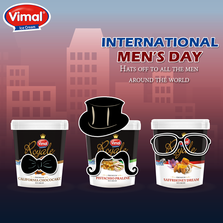 Saluting all men who are working hard to make this world a better place.  #InternationalMensDay #VimalIcecream #Ahmedabad