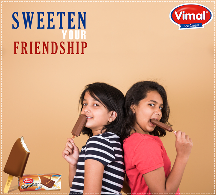 Delicious #ChocoCandy tastes more delicious when you eat with your best buddy!   #IcecreamLovers #VimalIcecream #Ahmedabad