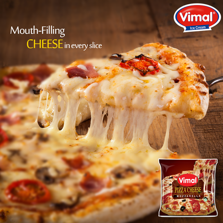 We know that heavenly feeling when a mouthful of gooey #cheesy bite invigorates all your #tastebuds! Make your favorite #pizza with an extra dash of #mozzarella #cheese from #Vimal