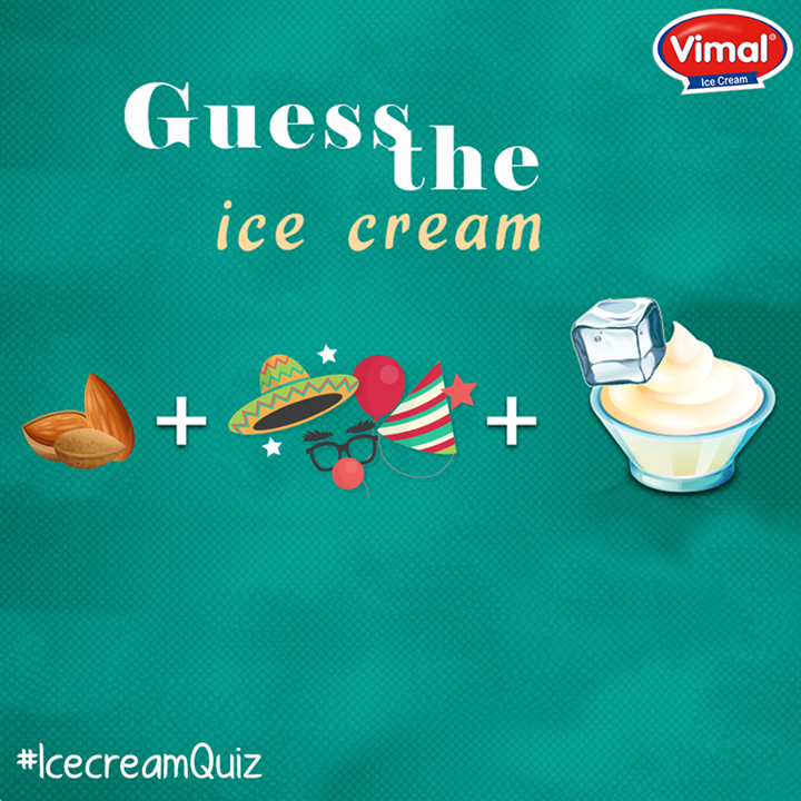 Can you guess the #Flavor?  #FunTime #Puzzle #Flavors #IcecreamLovers #VimalIcecream #Ahmedabad