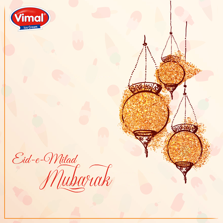 Vimal Ice Cream wishes everyone Eid-e-Milad Mubarak!   #EideMilad #VimalIceCream #Gujarat