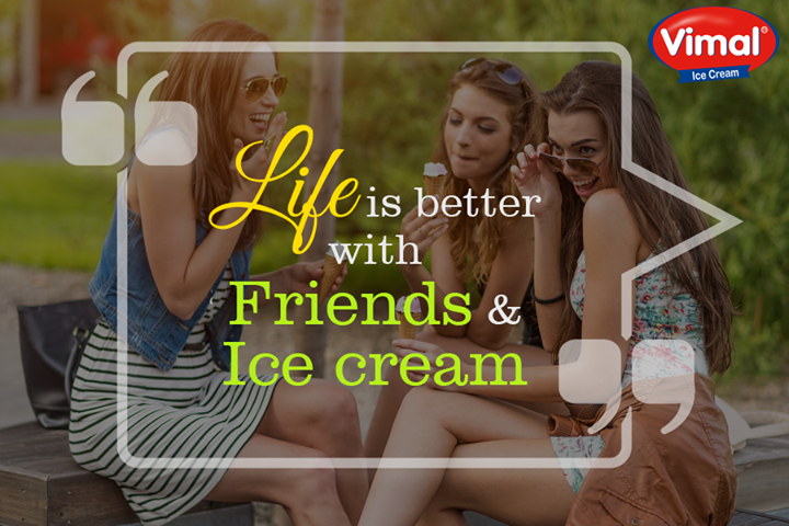 The best way to start your week right is your bunch of buddies and your favorite flavor of #Icecream!  #YourFlavor #FriendsChoise #HangOut #VimalIceCreams #IceCreamLovers #Winters