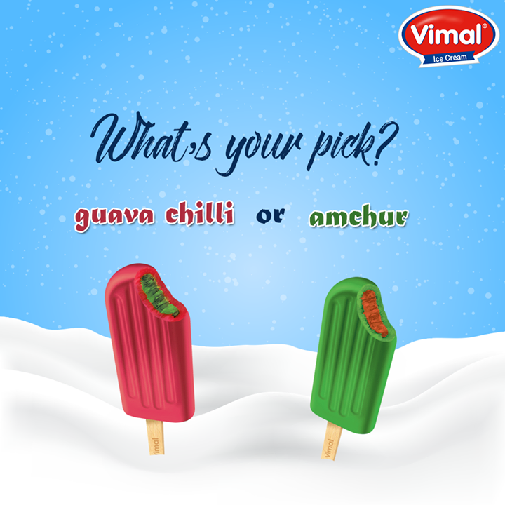 To all IcecreamLovers out there... what's your pick of the day?   #YourFlavor #YourChoise #ThisThat #WhichOne #VimalIceCreams #IceCreamLovers #Winters