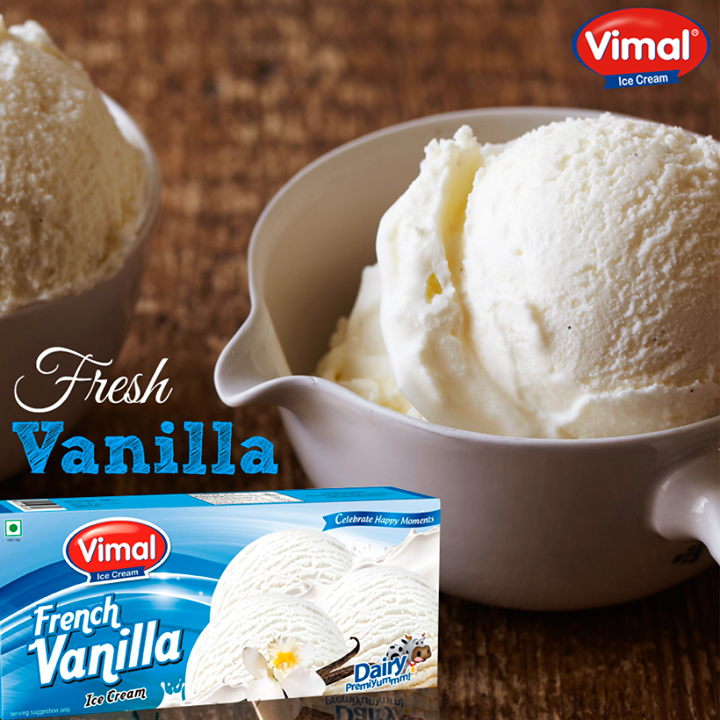 Happiness is simplicity with a vanilla Scoop of #icecream!  #Flavors #IcecreamLovers #VimalIcecream #Ahmedabad
