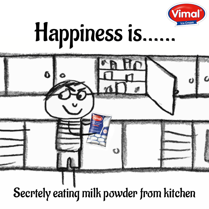 Real happiness!! Fresh and powdered milk packed with nutrients to keep you healthy from #Vimal!  #Happiness #MilkPowder #Flavors #DairyProduct #VimalIcecream #Ahmedabad