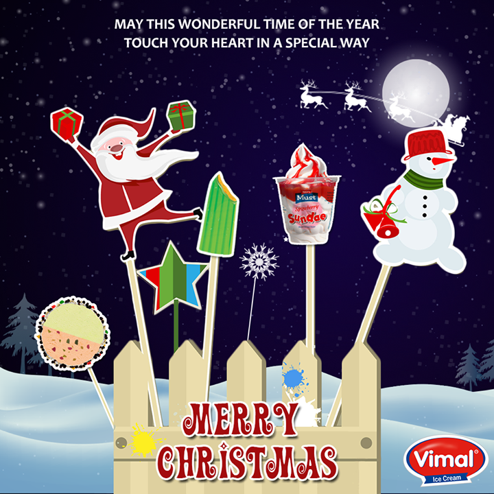 This time of year brings festivities and family fun. It is a time for reminiscing and looking forward. Wishing you wonderful memories during this joyous season.  #MerryChristmas #Christmas #VimalIcecream #Ahmedabad