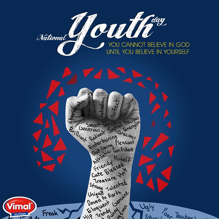 Believe in yourself!  #VimalIceCream #SwamiVivekananda #YouthDay #NationalYouthDay