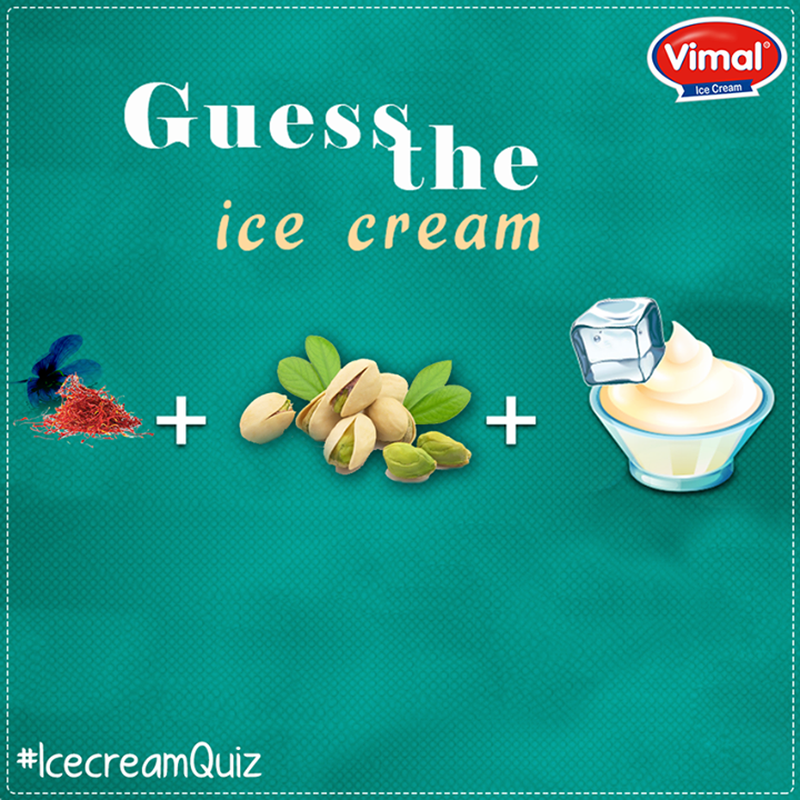Hint: The ice cream comes with taste of #saffron!   #FunTime #Puzzle #Flavors #IcecreamLovers #VimalIcecream #Ahmedabad