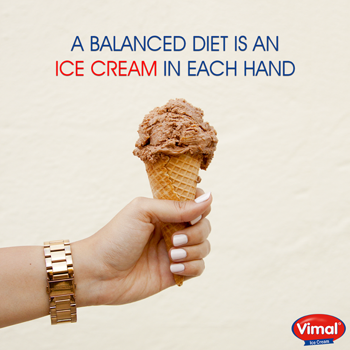 All you need is ICE CREAM in your hand.  #Icecream #Hand #IcecreamLovers #VimalIcecream #Ahmedabad