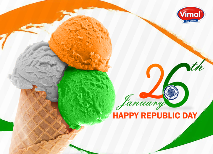 Let's rejoice the feeling of #freedom this #RepublicDay!  #HappyRepublicDay #Ahmedabad #IndianRepublicDay #VimalIceCream