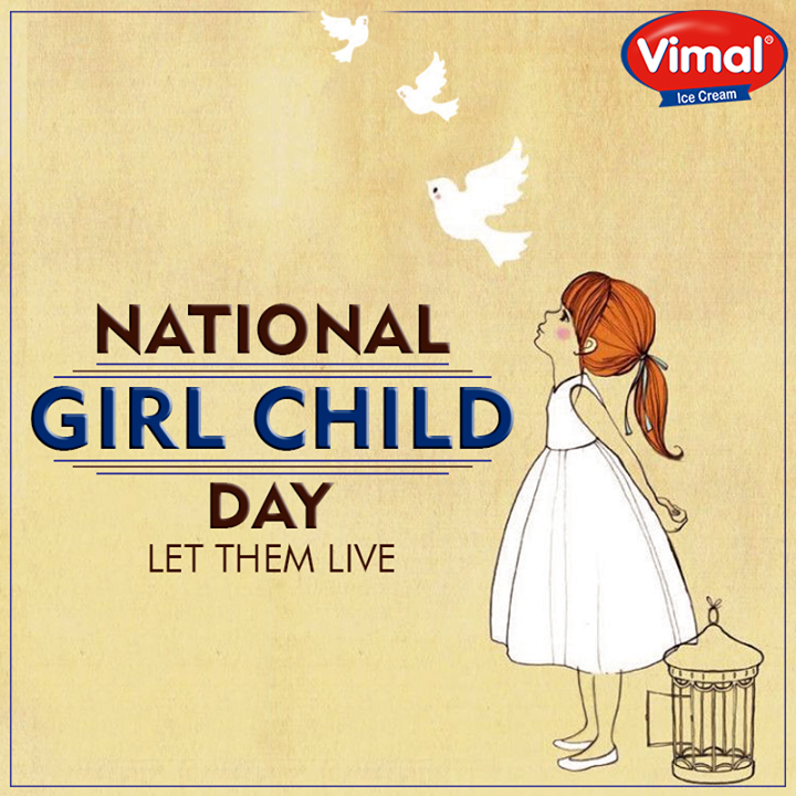 Vimal Ice Cream,  NationalGirlChildDay, VimalIceCream, Ahmedabad