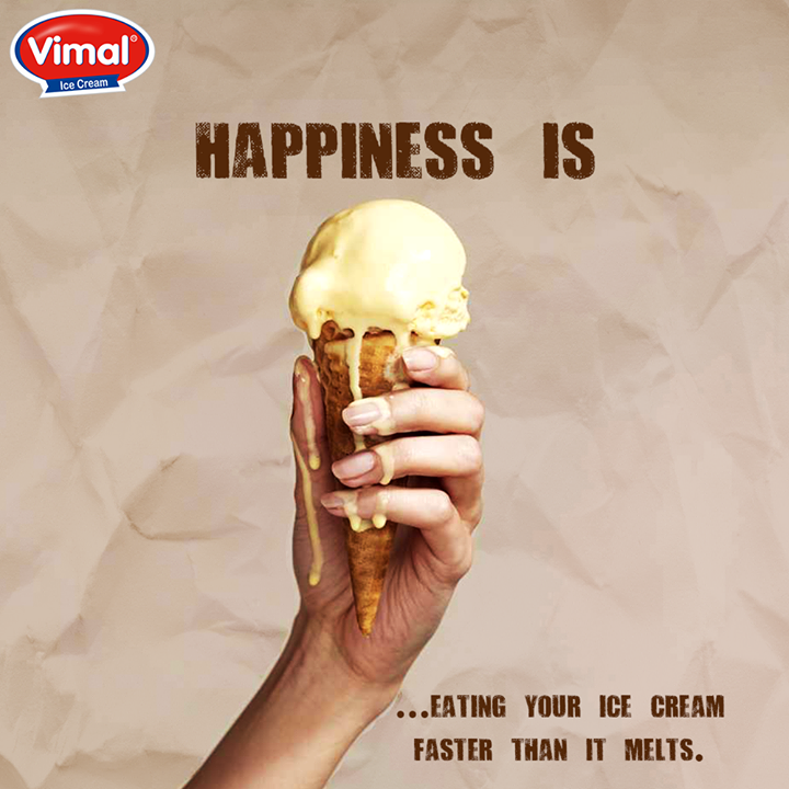 Fair enough? So, enjoy your ice cream, before it #melts.  #Icecream #IcecreamLovers #VimalIcecream #Ahmedabad