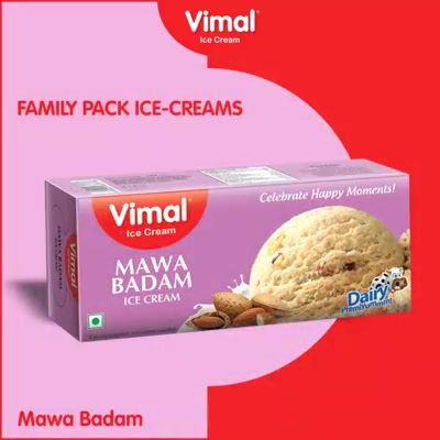 Check out our wide range of family packs to make your Events special.  #IcecreamTime #IceCreamLovers #FrostyLips #Vimal #IceCream #VimalIceCream #Ahmedabad