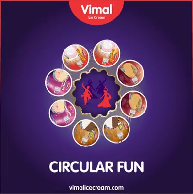 After #Garba enjoy circular roll cut to make #Navratri sweeter ;)   #Vimal #IceCream #VimalIceCream #Ahmedabad