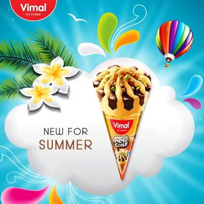 Make summer more enjoyable with new Vimal Ice Cream cones.   #IceCreamLovers #Vimal #IceCream #VimalIceCream #Ahmedabad