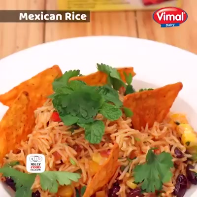 Make Tuesday a delicious one with Mexican Rice & rich taste of #VimalLite.  #VimalDairy #Food #Foodies