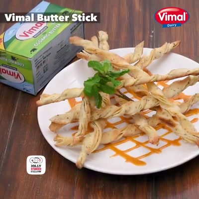 Try easy delicious butter sticks with vimal cooking butter for a small treat to your family.  #ButterLovers #VimalCookingButter #ButterStick #VimalDairy #Food #Foodies