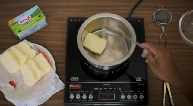 Looking for the easiest way to prepare pure desi ghee at home?  All you need to do is take a butter-slab and cut it into pieces. Then start heating the butter slices; making sure to keep the flame shimmering so that the butter gets melted in the container completely. Keep stirring it until the colour of the butter gets changed into golden and turns frothy. In a few minutes the liquid will start appearing brown leaving a beautiful aroma; you can then put off the stove and sieve the frothy liquid. Allow it to cool for a while and then get it stored in a bottle.    The pure and desi ghee; staple of India cuisines will be ready almost instantly!  #DesiGhee #VimalDairy #VimalButter #Vimal #Ghee #Ahmedabad