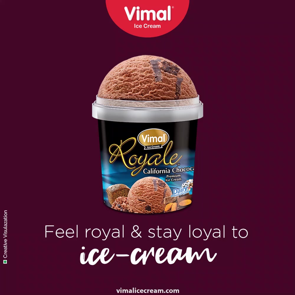 Ice-creams are ones of the most innovative desserts of the history! Feel royal and stay loyal to ice-creams.  #InnovativeDesserts #LoyalToIcecream #ThinkOfIcecreams #VimalIceCream #IceCreamLovers #Vimal #IceCream #Ahmedabad